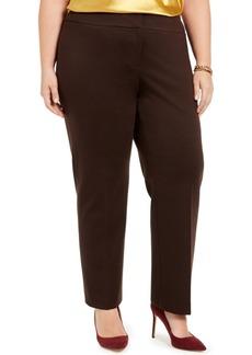 Kasper Plus Size Slim-Leg Pants