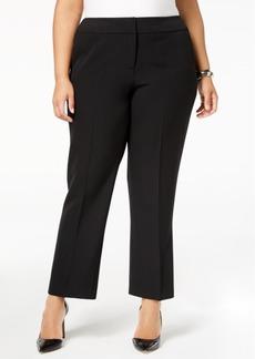 Kasper Plus Size Straight-Leg Pants