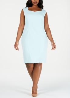 Kasper Plus Size Sweetheart Sheath Dress
