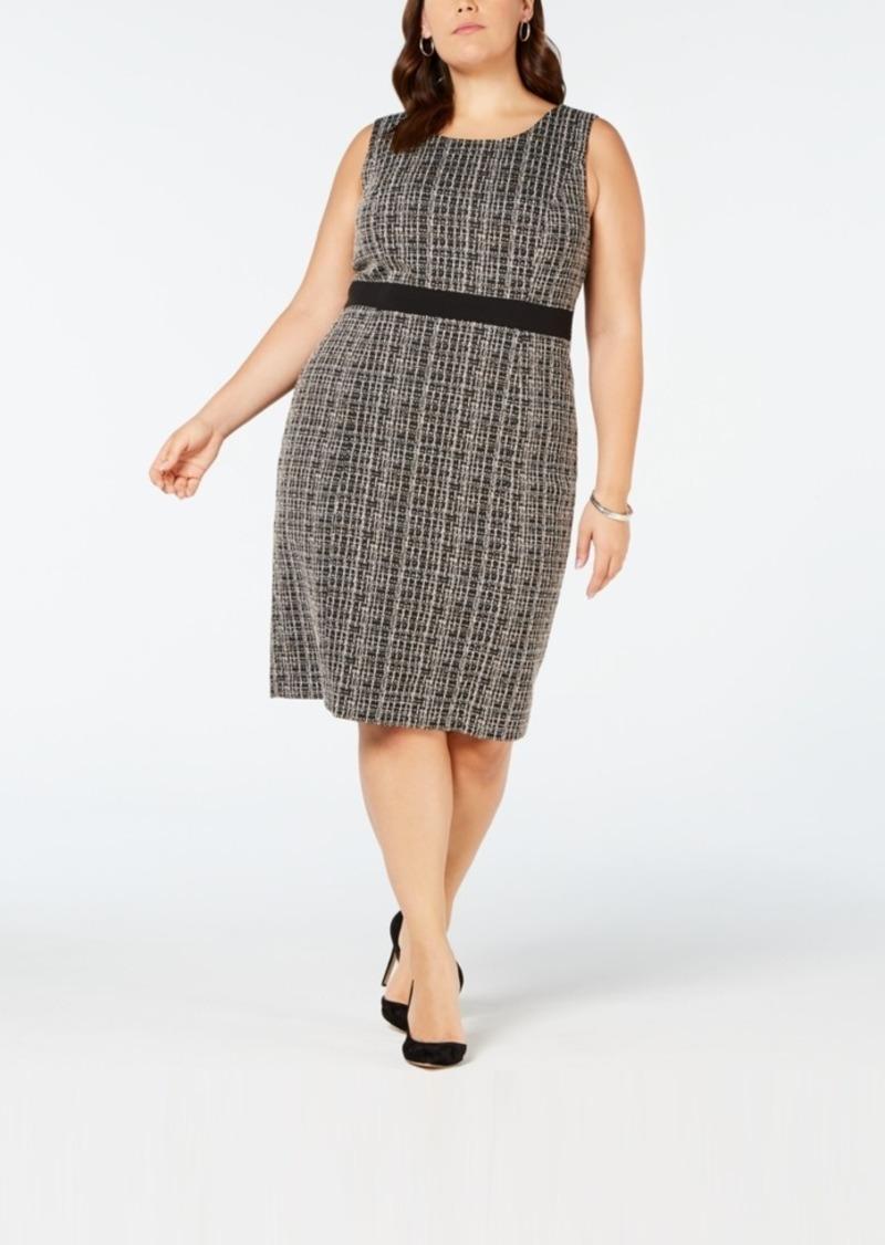 1a2a7cf3b097 Kasper Kasper Plus Size Tweed Sheath Dress   Dresses
