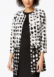 Kasper Printed Duster Jacket
