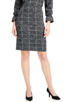 Kasper Printed Pull-On Pencil Skirt