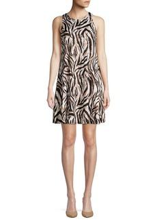 Kasper Printed Sleeveless Dress