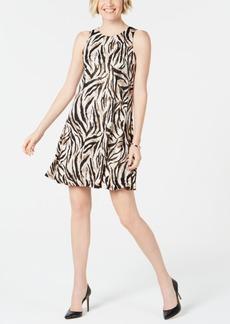 Kasper Petite Animal-Print Swing Dress