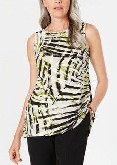 Kasper Petite Sleeveless Printed Top