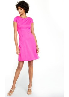 Kasper Quilted Fit & Flare Dress