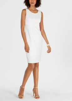 Kasper Sleeveless Jacquard Sheath Dress