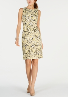Kasper Sleeveless Paisley Print Sheath Dress