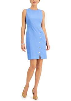 Kasper Snap-Skirt Sheath Dress