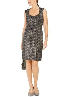 Kasper Square-Neck Sheath Dress