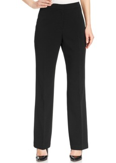 Kasper Straight-Leg Crepe Pants, Regular & Petite
