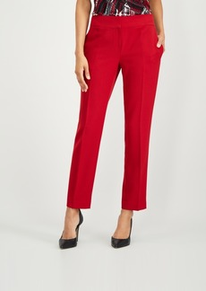 Kasper Stretch Crepe Slim-Leg Pants