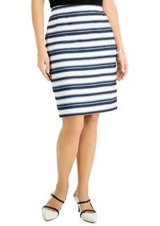 Kasper Striped Slim Skirt