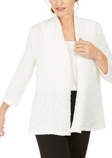 Kasper Textured Sequined Jacket