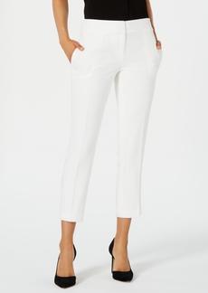 Kasper Textured Slim-Fit Pants