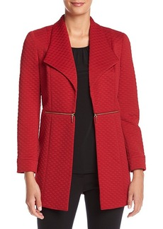 Kasper Textured Zipper Jacket