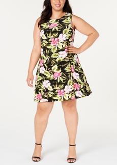 Kasper Plus Size Hibiscus Dress