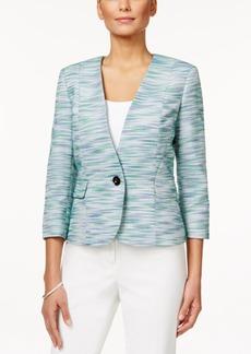 Kasper Petite One-Button Tweed Jacket