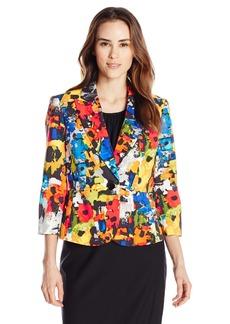 Kasper Women's 1 Button Printed Jacket