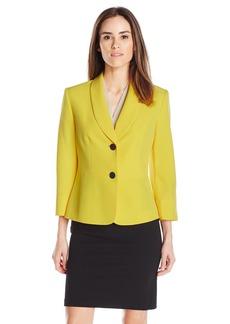 Kasper Women's 2 Button Stretch Crepe Jacket