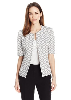 Kasper Women's Abstract Jacquard Jacket