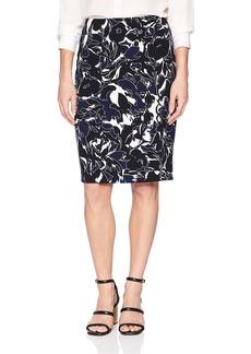 Kasper Women's Abstract Printed Crepe Skirt