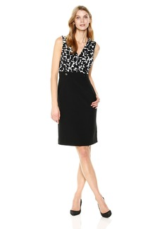 Kasper Women's Abstract Printed Ity Dress
