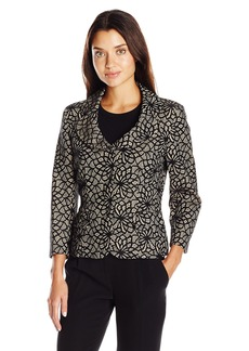 Kasper Women's Bonded Lace 3 Button Jacket