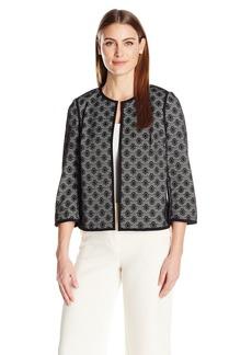 Kasper Women's Bonded Lace Flyaway Jacket