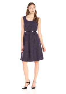 Kasper Women's Cap Sleeve Belted Dress