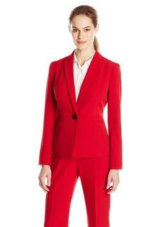 Kasper Women's Crepe One Button Jacket