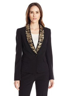 Kasper Women's Embelished One Button Jacket