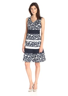 Kasper Women's Floral Banded Swing Dress