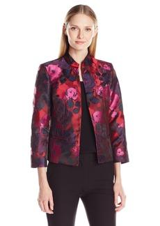 Kasper Women's Floral Jacquard Jacket