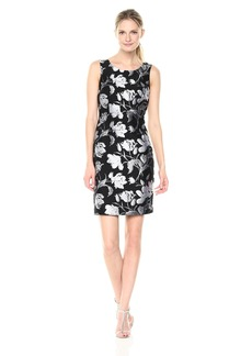 Kasper Women's Floral Jacquard Sheath Dress