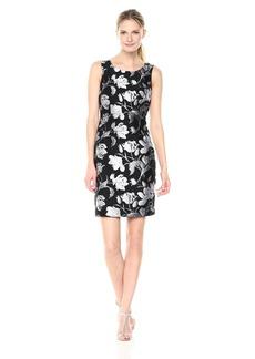 Kasper Women's Floral Jacquard Sheath Dress