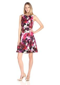 Kasper Women's Floral Printed Zeo Scuba Dress
