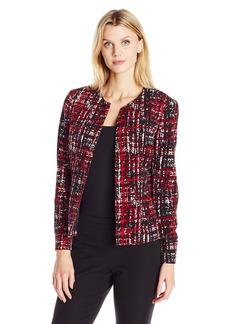 Kasper Women's Grafitti Printed Twill 1 Button Jacket