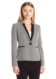 Kasper Women's Houndstooth 1 Button Jacket
