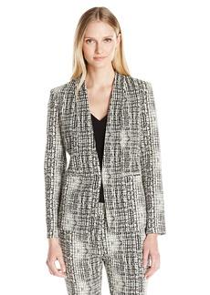 Kasper Women's Jacquard Flyaway Jacket