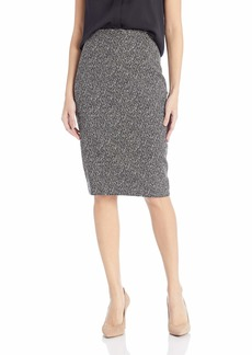 Kasper Women's Knit Jacquard Slim Skirt
