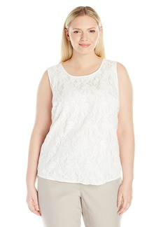 Kasper Women's Knit Lace Blouse  XL