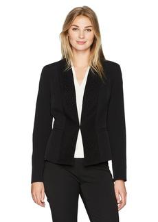 Kasper Women's Lace Ponte Jacket