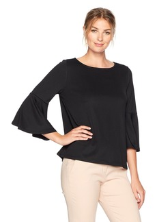Kasper Women's Long Bell Sleeve Blouse  XL