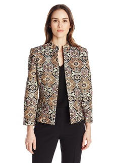 Kasper Women's Metallic Jacquard Jacket