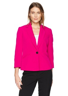 Kasper Women's One Button Notched Lapel Jacket