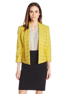 Kasper Women's Oval Jacquard Flyaway Jacket