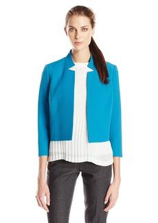 Kasper Women's Peak Notch Collar Open Jacket