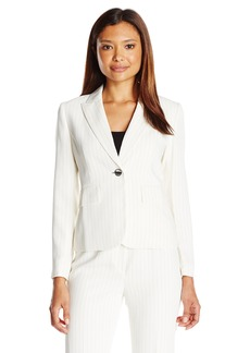Kasper Women's Size 1 Button Pinstripe Jacket