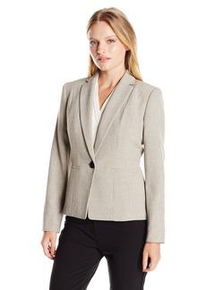 Kasper Women's Melange Stretch 1 Button Jacket